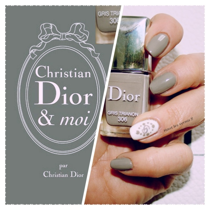 Dior nail art by Elodie Mayer