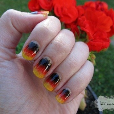 Germany nails nail art by Lora