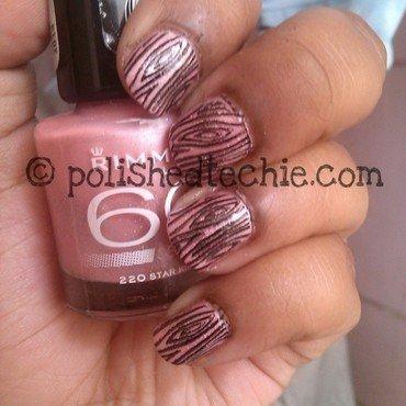 Shimmery Stamping Nailart nail art by Rajani Polished Techie