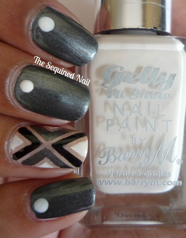 Geometric Accent Nail take 2 nail art by TheSequinedNail