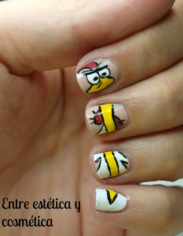 Cow & Chicken - I'm Chicken nail art by MartaRuso