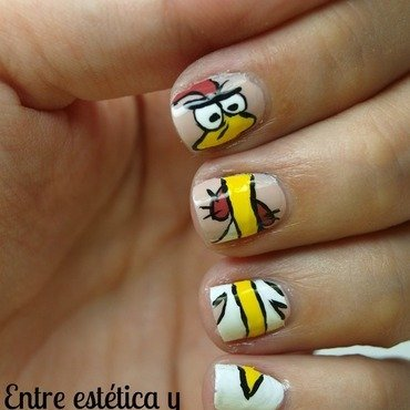 Cow & Chicken - I'm Chicken nail art by MartaRuso