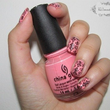 Pink Paris II nail art by Lora