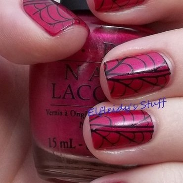 Unintentional Spiderman stamping nail art by Jenette Maitland-Tomblin