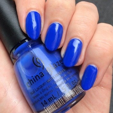 China Glaze I Sea The Point Swatch by Courtney Haines
