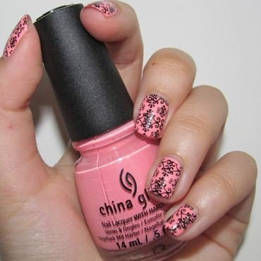 Pink Paris nail art by Lora