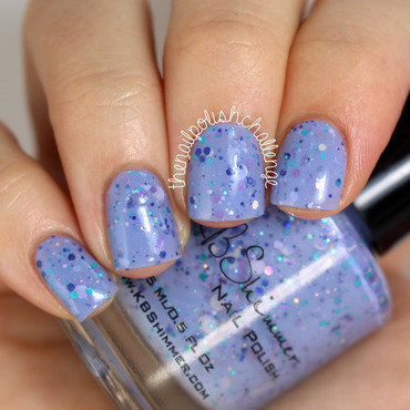 KBShimmer Periwinkle in Time Swatch by Kelli Dobrin