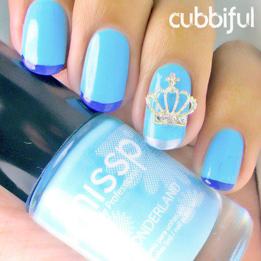 A Crown for Cinderella nail art by Cubbiful