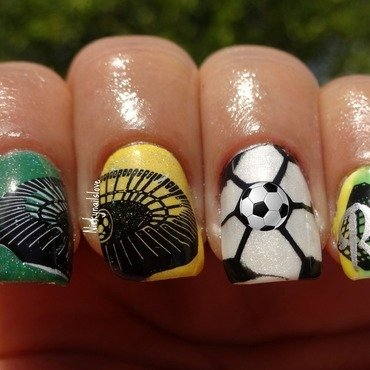 world cup Rio nail art by Nicky