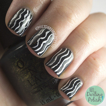 Wavy Lines nail art by Marisa  Cavanaugh