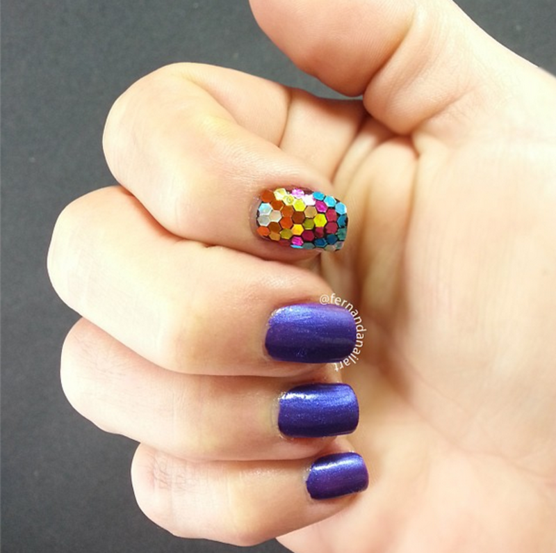 Hexagon Mommy nail art by LyAN