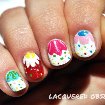 Folky Flowers nail art by Lacquered Obsession