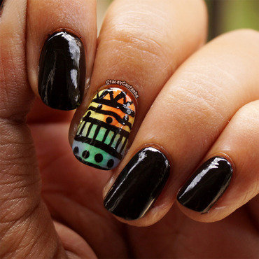 Colorful Pattern nail art by Stacey  Castanha