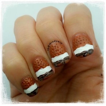 s' mores, anyone?? nail art by mindywong