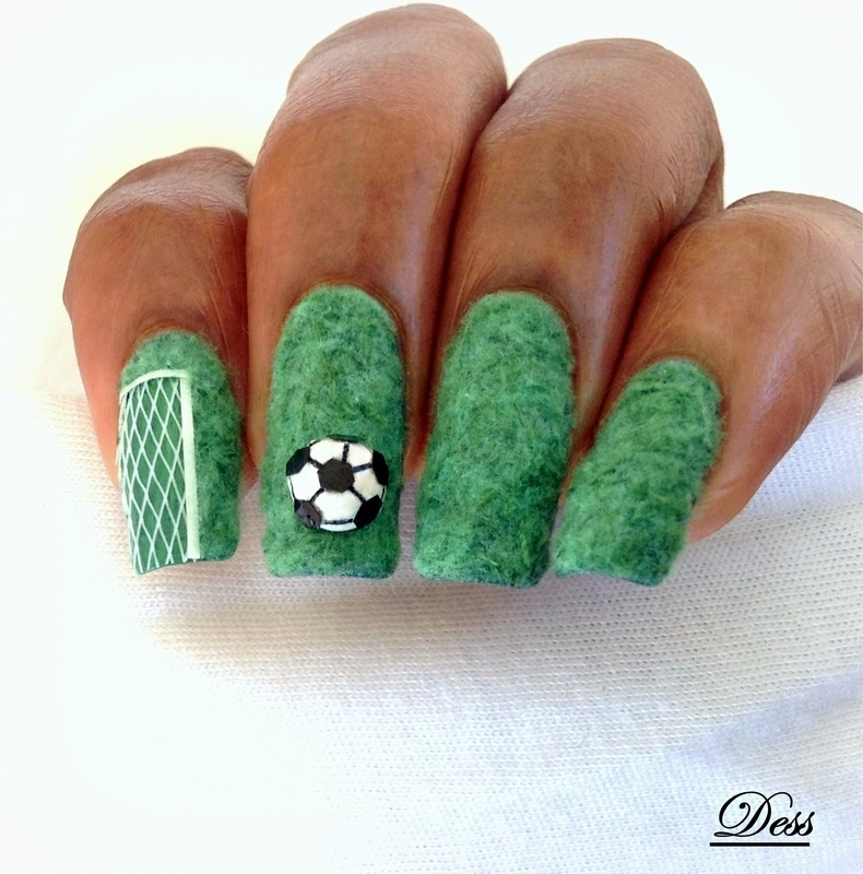 GOAL! nail art by Dess_sure