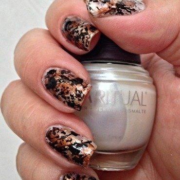 Splatter Nails nail art by Debbie