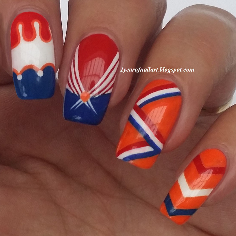 Semi final Holland nails nail art by Margriet Sijperda