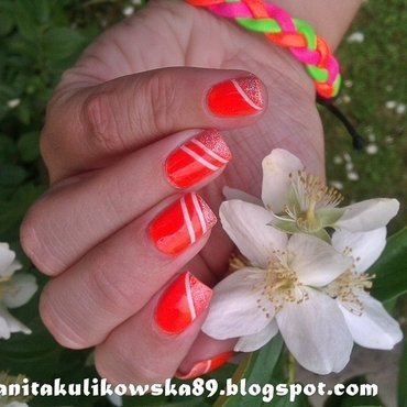 Neon power :) nail art by Anita