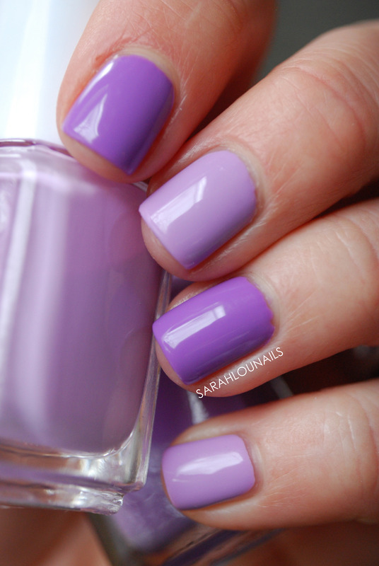 Pastel Purples nail art by Sarah S