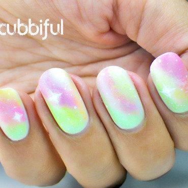 Unicorn Galaxy nail art by Cubbiful