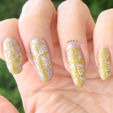Vintage Crackle nail art by Nora (naq57)