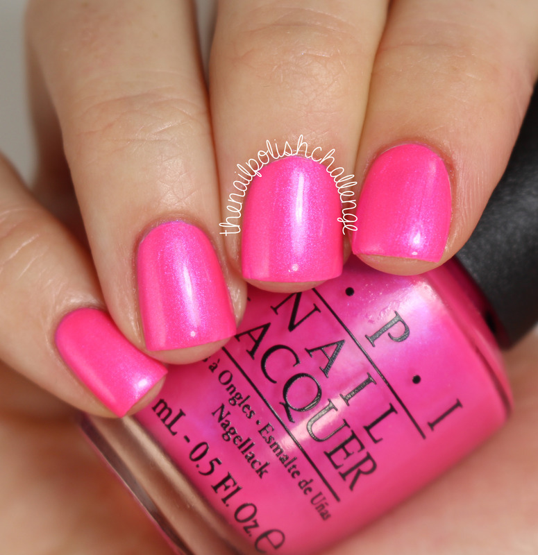 OPI Hotter Than You Pink Swatch by Kelli Dobrin