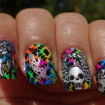 Tribal nails nail art by Nicky