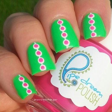 Neon Dots nail art by Debbie D