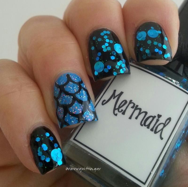 Mermaid nail art by Debbie D