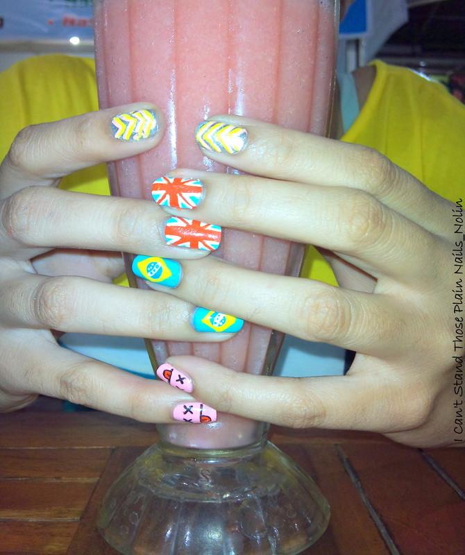 Mix Designs  nail art by Arnolin Modokh