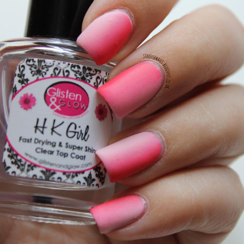 Vertical pink gradient nail art by Lisa Yabsley