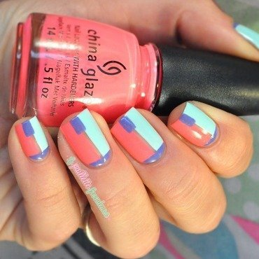 summer color blocking nail art by nathalie lapaillettefrondeuse