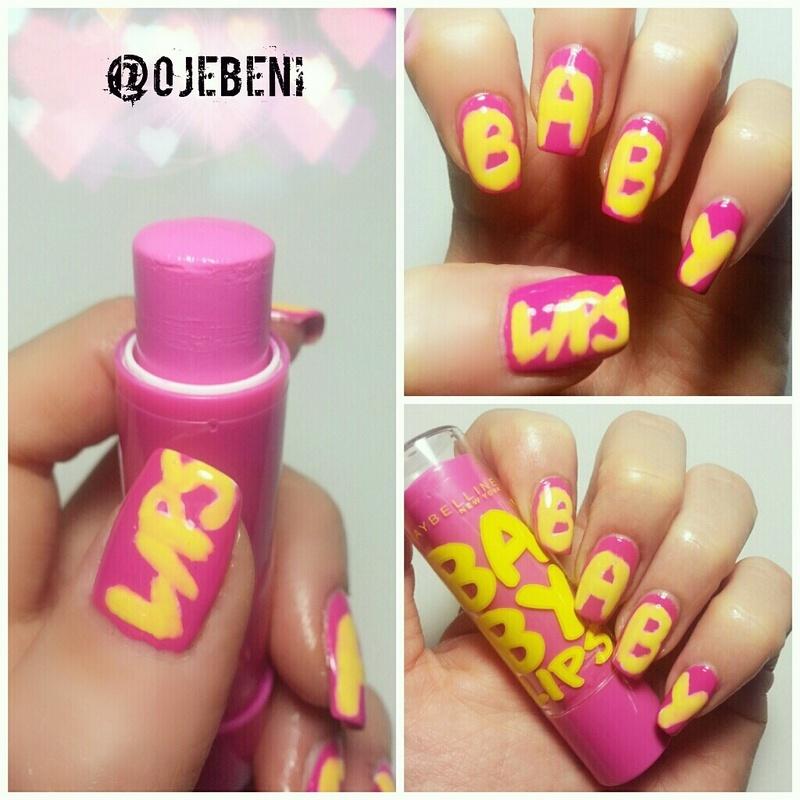 Baby Lips nail art by ojebeni
