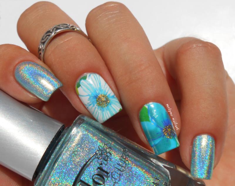 floral nail nail art by melyne nailart