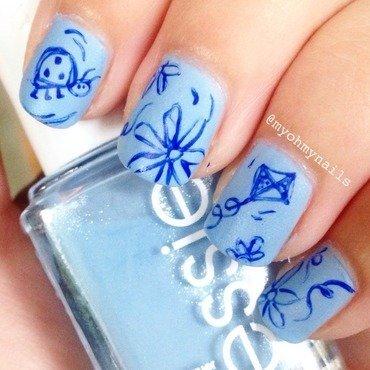 Summer Sketch nail art by Niki My Oh My Nails