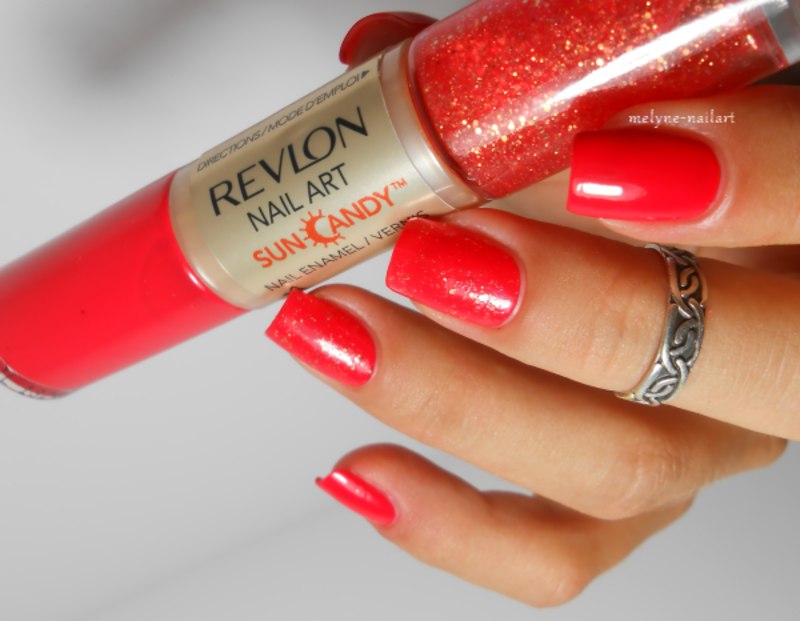 Revlon Lava Flame Swatch by melyne nailart