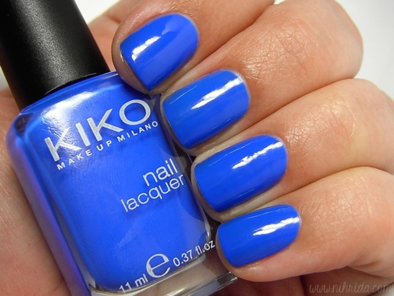Kiko Electric Blue 336 Swatch by nihrida