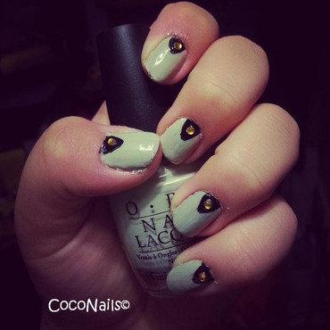 Triangular Ocassion nail art by Chloe Lewis