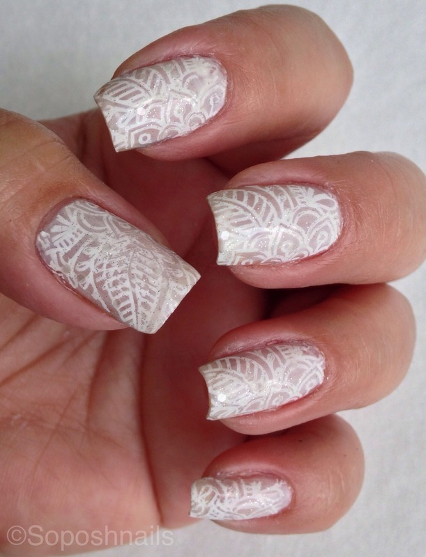 Jelly Sandwich French Lace Nails nail art by Debbie