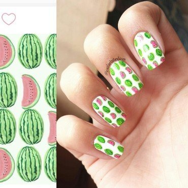 Watermelon! nail art by Julia