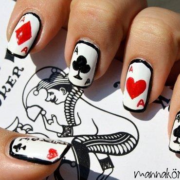 card nail art nail art by Marianna Kovács