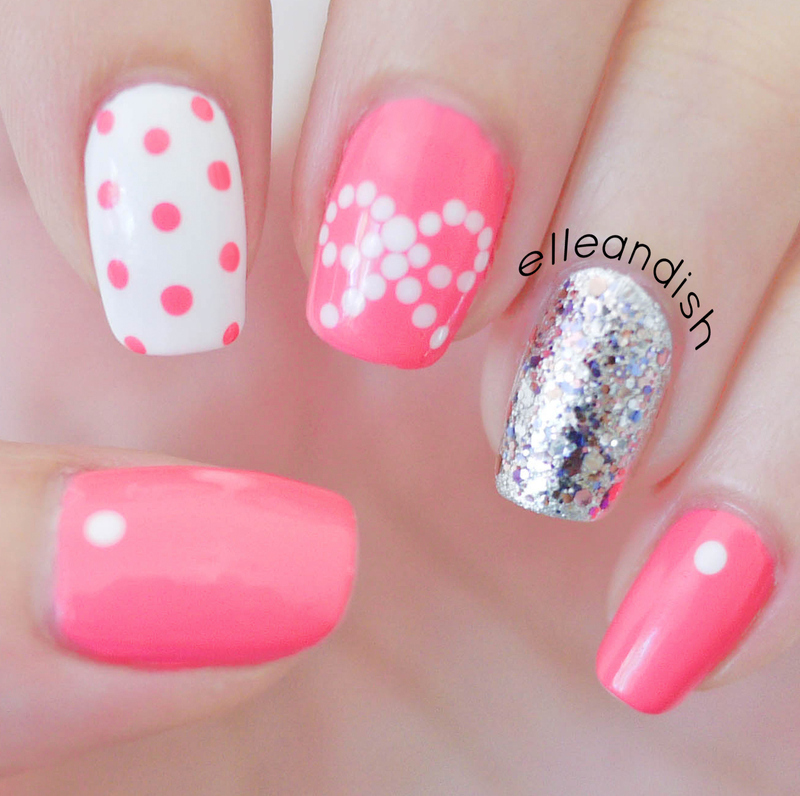 Easy Bow Nails...Using Dots! nail art by elleandish