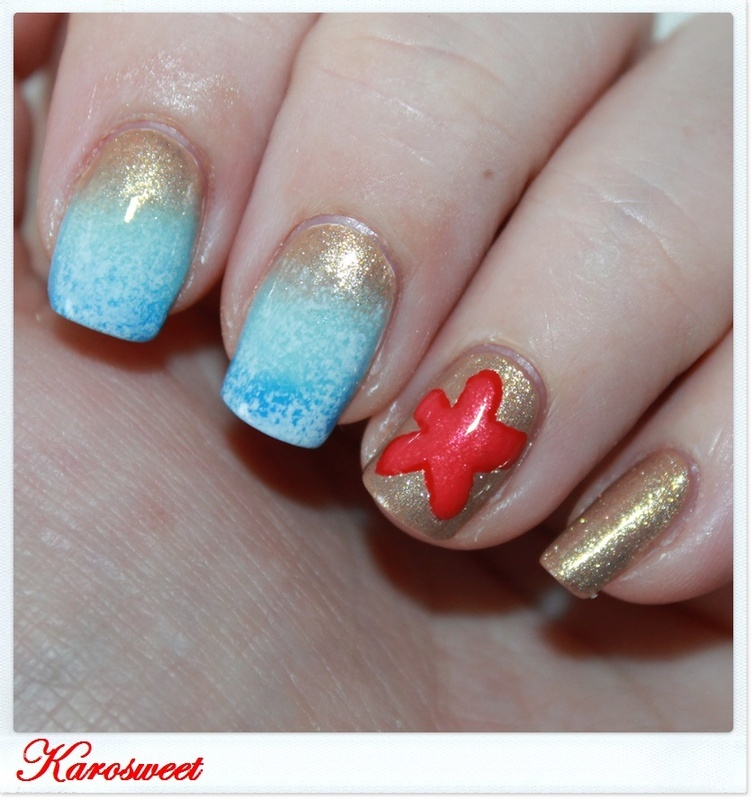 Summer is here ! nail art by Karosweet