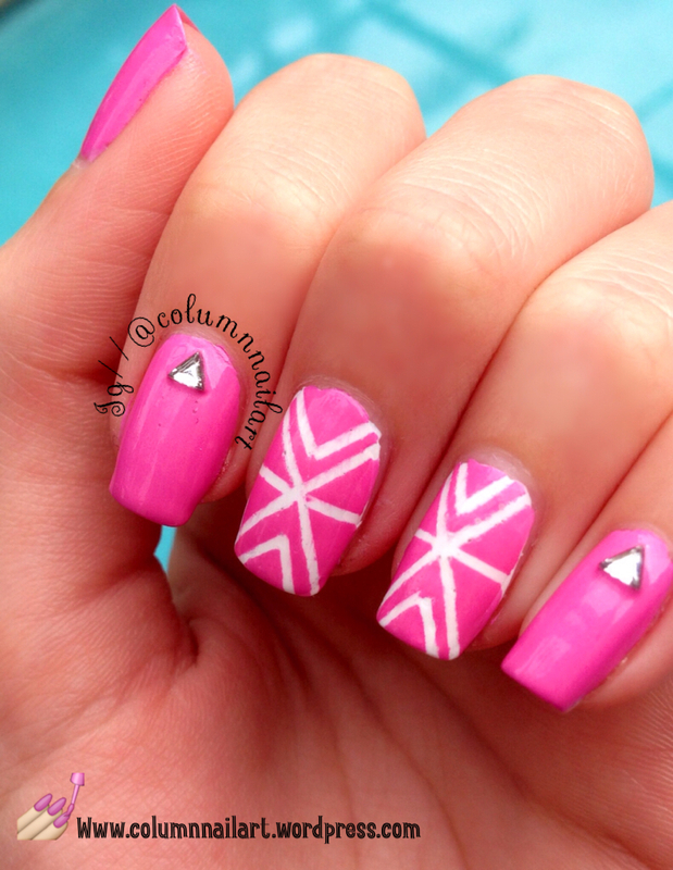 Striped Nail Art--Sparkle Nails for Ayla nail art by Carly Morgan