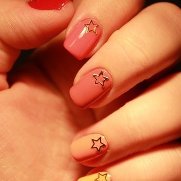 Stars on a ombre nail art nail art by Karosweet