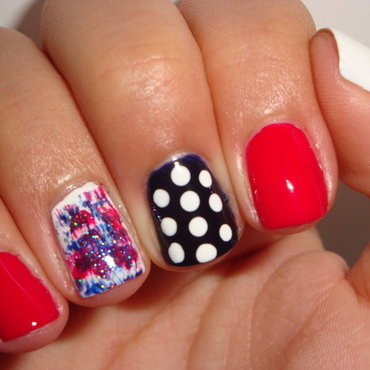 Fourth of July nail art nail art by Jessica