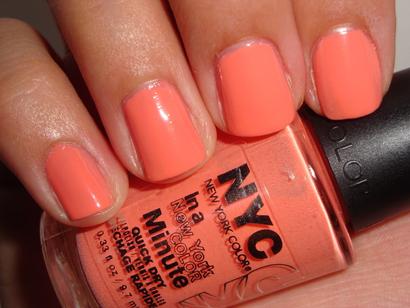 Nyc In A New York Color Minute Quick Dry Hamptons Peach Swatch by ...