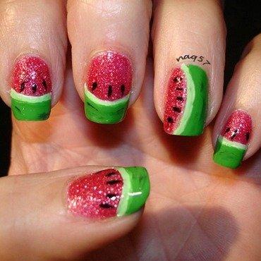 Juicy Watermelon nail art by Nora (naq57)