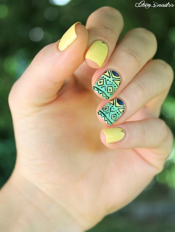 Bresil nailart nail art by Cocosnailss