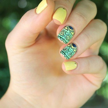 Bresil nailart nail art by Cocosnailss